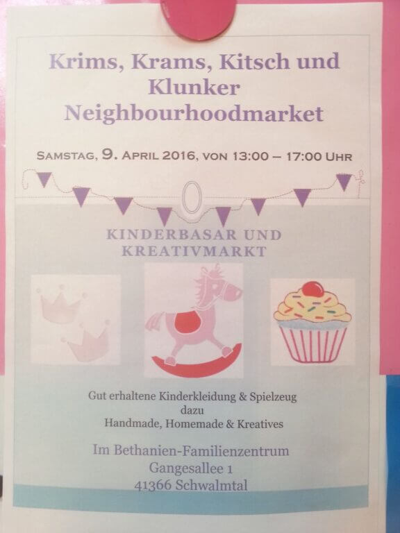 Krims, Krams, Kitsch und Klunker Neighbourhoodmarket im Bethanien Familienzentrum