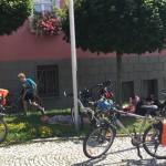 Mittagspause bei der Fahrradtour auf den Spuren Luthers