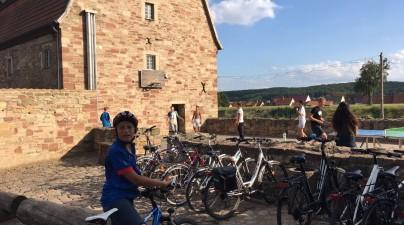 Auf den Spuren Luthers waren die Jugendlichen aus dem Bethanien Kinderdorf mit den Fahrrädern unterwegs