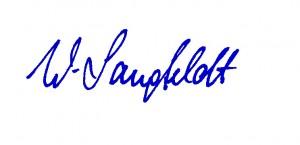 Werne Langfeldt Unterschrift
